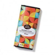 Seattle Chocolates dark chocolate Salted Almond truffle bar - This Vegan Delight is dreamy!
