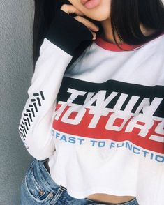 bfc09f56b645b Off and racing. Shop the Burnout Long sleeve from  dashboutique now   itstwiin 🏁