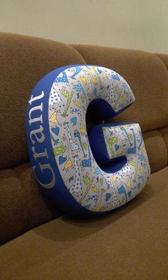 Letter G pillow Baby name pillow Fabric letter Nursery decor Baby shower gift Personalized baby pillow Cushion Couch pillows Custom Letter G Baby Couch, Baby Pillows, Kids Pillows, Couch Pillows, Baby Name Letters, Nursery Letters, Baby Room Decor, Nursery Decor, Letter Cushion