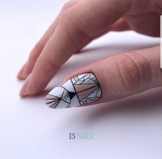 Beautiful Nail Art, Gorgeous Nails, Love Nails, Nail Art Designs Videos, Cute Nail Art Designs, Almont Nails, Stiletto Nails, Gel Nails, Geometric Nail