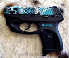 Ruger LC9 with Cerakote Design @beardedguy Buffalo Tactical www.Buffalofirearms.com