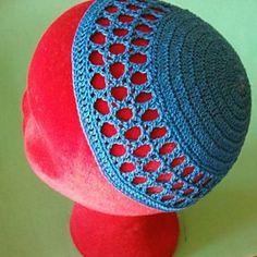 Star of David Kippah by Elizabeth Ham - Free crochet pattern using 2.25mm hook, adult sized.