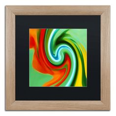 'Abstract Flower Unfurling Square 2' by Amy Vangsgard Giclée Framed Graphic Art