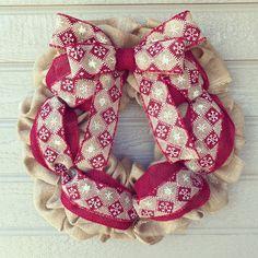 Snowflake Burlap Wreath