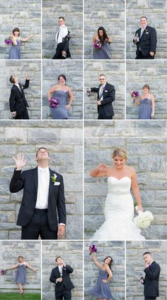 brady bunch style wedding  would be fun to get all the family members -- or parents and b