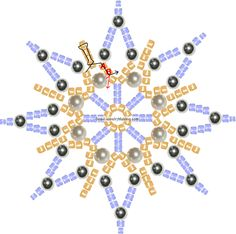 Beautiful beaded star or snowflake ~ easy tutorial.