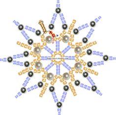 * Snowflake Star step 13