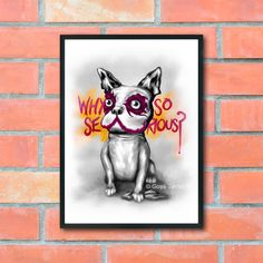 Why So Serious? - The Joker - Batman - Comic Character - French Bulldog - Graffiti Art - Street Art - Sweet Art - Cute Art - Pop Art - Home by ArtyPrintsBoutique on Etsy