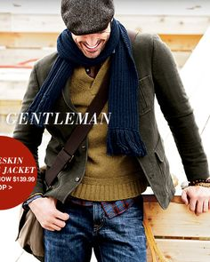 Lands' End Canva Men's Moleskin Campus Jacket (Loden). $250.  Top of the class in modern casual.