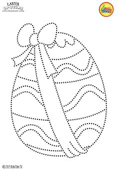 Easter Tracing and Coloring Pages for Kids - Free Preschool Printables and Worksheets, Fine Motor Skills Practice - Easter bunny, eggs, chicks and more on BonTon TV - Coloring books Easter Coloring Pages, Coloring Sheets For Kids, Printable Adult Coloring Pages, Coloring Books, Cute Embroidery Patterns, Embroidery Cards, Free Preschool, Preschool Printables, Easter Activities