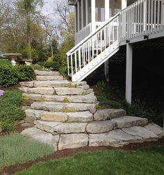 A great natural look of stone and growth by Beavercreek Landscape & Nursery