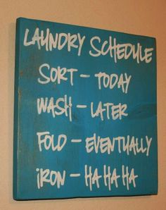 Funny Laundry Schedule