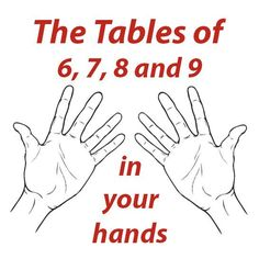 Here's a great reuse for your hands... a math hack! Learn this and you'll thank your hands later.