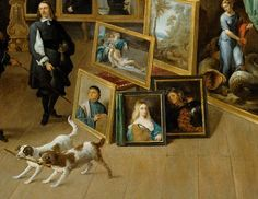 David Teniers the Younger (Flemish, 1610–1694). Archduke Leopold Wilhelm in his Gallery in Brussels (detail), ca. 1650. Oil on canvas.