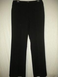 "Chicos Size 0.5 Regular X 32"" Inseam Black Trouser Womens Career Dress Pants #Chicos #DressPants"