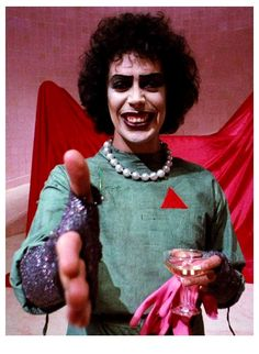 Tim Curry as Dr Frank-N-Furter Rocky Horror Picture Show 1975 - Classic Rocky Horror Show, Tim Curry Rocky Horror, The Rocky Horror Picture Show, Doctor Who, Horror Costume, Movies Showing, Horror Movies, I Movie, Picture Movie