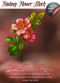 Fantasy Flower V 06 by SK-DIGIART