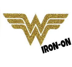 Diy WONDER WOMAN CREST Iron On Vinyl Applique by wingsnthings13