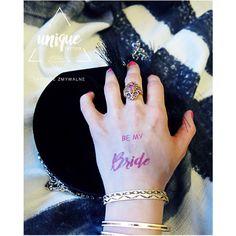 Bride, Be my Bride, Unique Bride, Bride to be, Heart, Diamond, Crown / Temporary Tattoos / Tatuaże zmywalne, idealne na wieczory panieńskie, zarówno dla przyszłej Panny Młodej, jak i uczestniczek Wieczoru!!!!