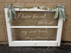 Old Window With Vinyl For Wedding Decoration. Interior And Exterior Vinyl  Can Be Purchase From