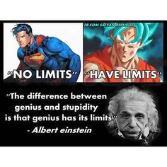 """Goku has no limits as long as he keeps up his training with whis. Super Man is one yall need to worry about """"the limits"""""""
