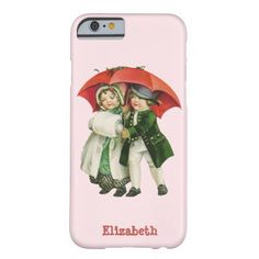 Vintage Christmas Girl and Boy Phone Case