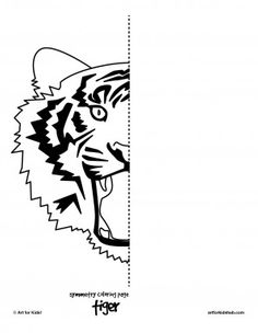 6 Free Coloring Pages – Cat Symmetry