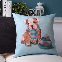 45cm 18'' Plush Soft Cushion Cover Pillow Case Puppy Dog Aussie Bulldog
