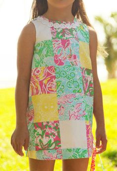 Lilly Pulitzer Little Lilly Classic Shift Dress in State Patch