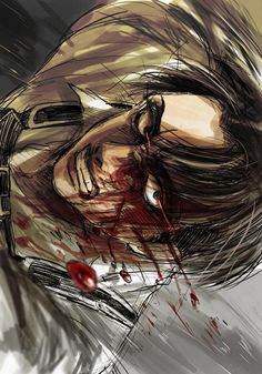 Gosh this is terrifying, really well done though | bloody Levi | SNK