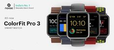 Noise Colorfit Pro 3 This smartwatch includes 14 sports modes & auto sports recognition features. Tab to read its full review with pros cons & specifications. Menstruation And Pregnancy, Latest Smartwatch, Gadget News, Red Smoke, Display Resolution, Sweat Proof, Cloud Based, Watch Faces, Watch Brands