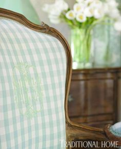 Details - Monogrammed Chair Back