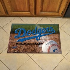 Show off your team pride in high traffic areas with this Los Angeles Dodgers Doormat Scraper - Ball by Fanmats. These Scraper Mats have nibs that scrape shoes clean of dirt, debris, and moisture so th
