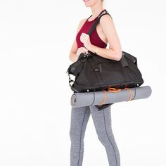 222997f635f4 Flexible bungee cords on the bottom of our Tom bag are perfect for carrying yoga  mats