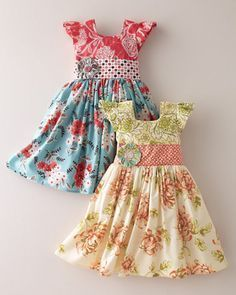 I'd never pay this, but how cute of these little girls for my little girls??? Flutter-Sleeve Party Dress by Moxie & Mabel - Baby Girls