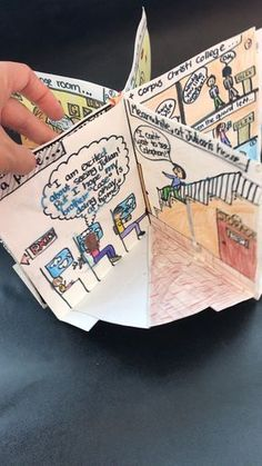 Foldable Book Report Project for Any Novel or Picture Book - Kunstunterricht Book Report Projects, Book Projects, School Projects, English Projects, Reading Projects, Class Projects, Classroom Activities, Learning Activities, School Classroom
