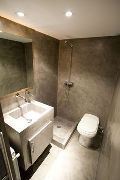 alphacement.gr - ΠΑΤΗΤΗ ΤΣΙΜΕΝΤΟΚΟΝΙΑ Cement Design, Ana White, Corner Bathtub, Wall, House, Furniture, Plaster, Bathroom Ideas, Bathrooms