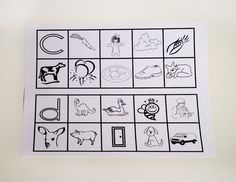 Blackline Master 12 is a Pre-school version of our Initial Sounds set.  Children can cross out, colour or cut and paste the pictures.  Reproducible   $4.98