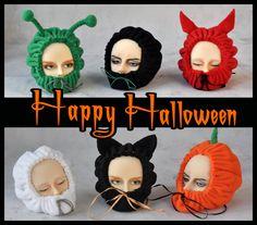 BJD head keeper - Halloween #Halloween #BJDheadkeeper #бжд #bjd #blueberrystyle #etsy #dollshe #bjdphotography #abjd #dollstagram #headband #balljointeddoll #blueberrystyle #etsy #dolls #doll #bjdphoto #blueberry #hound #abjdphotography  #Ghost 👻 #Bat 🌙  #Devil 😈 #Pumpkin 🎃 #Alien 👽