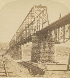 Original Bridge Superstructure between Mandan and Bismarck ND. 1882