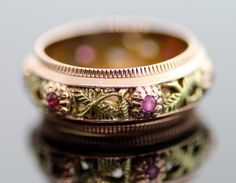 Antique Filigree Wedding Ring by Somewhere in Time