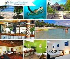 """Blue Lagoon Beach Resort is located 47 nautical miles from the Fijian mainland, on Nacula Island, in the """"Blue Lagoon"""" part of the Yasawa Island Group where the sand is the whitest and the water is the bluest!!"""