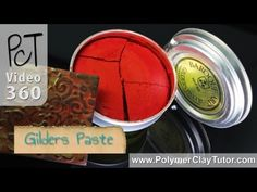 Gilders Paste Color Finishes For Polymer Clay  Video #360: In this video Ill demonstrate how to use several differnet colors of Gilders Paste for creating unique looking finishes on your polymer clay projects. More...  * Explanation of what Gilders Paste is and what it is used for.  * How to open the tin container. Not all of them are labeled properly.  * Samples of the different colors I...