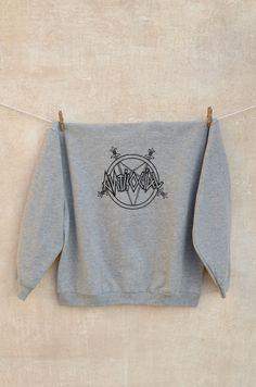 Antisocial Crewneck. Not so original blackprint on grey sweatshirt 68% cotton + 24% polyester + 8% viscose.