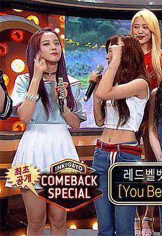 "officialjisoo: """"jisoo and seulgi @ 170709 sbs inkigayo 💖💗💕💗💘💖💕💗 "" "" Kpop Girl Groups, Kpop Girls, Beautiful Player, Eunji Apink, Black Pink Songs, K Pop, Blackpink And Bts, Blackpink Photos, Red Velvet"