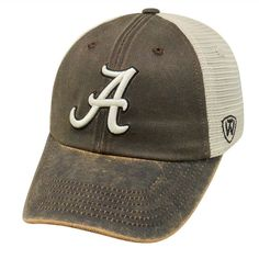 Adult Top of the World Alabama Crimson Tide Scat Adjustable Cap, Med Brown