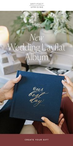 The heirloom-quality Wedding Layflat Photo Album features ultra-thick pages, custom foil stamping, & so much more. Wedding Photo Album Book, Wedding Album Cover, Wedding Album Layout, Wedding Album Design, Wedding Guest Book, Diy Wedding, Wedding Photos, Wedding Albums, Wedding Ideas