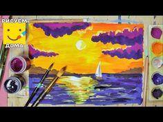 Как нарисовать дельфинов гуашью! #Dari_Art #рисоватьМОЖЕТкаждый - YouTube