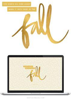 Fall Desktop Freebie