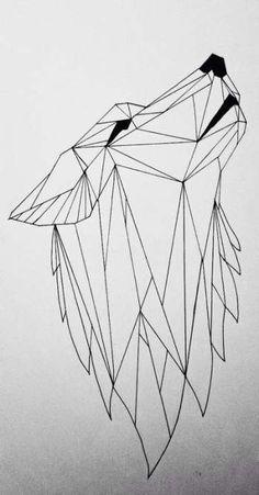 New tattoo geometric wolf wolves tumblr ideas #tattoo